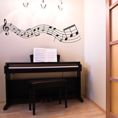 The Binary Box Musical Notes Wall Sticker