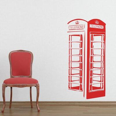 The Binary Box London Phone Box Wall Sticker