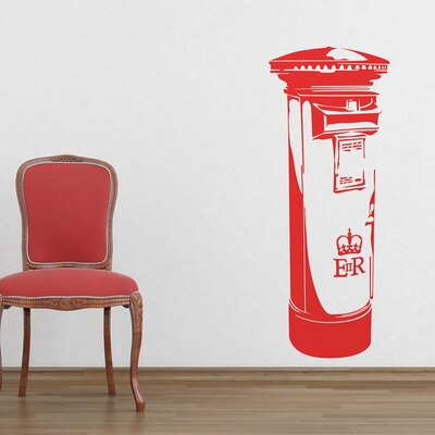 The Binary Box London Post Box Wall Sticker