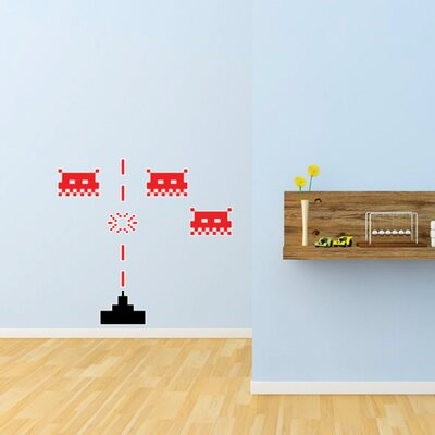 The Binary Box Space Invaders Wall Stickers