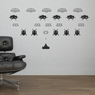The Binary Box Space Invaders Wall Sticker