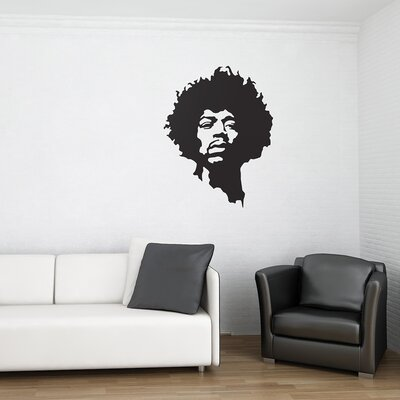 The Binary Box Jimi Hendrix Wall Sticker