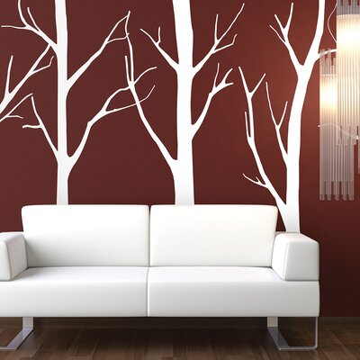 The Binary Box 2 Piece Trees Forest Wall Sticker Set