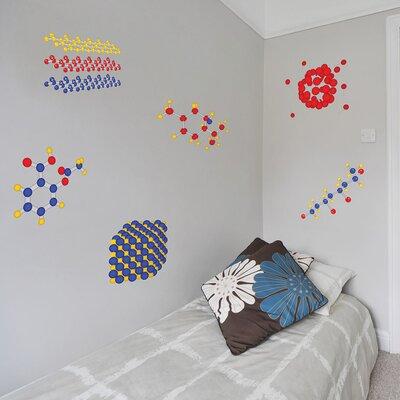 The Binary Box Educational Molecule 6 Piece Wall Sticker Set