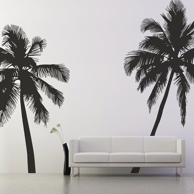 The Binary Box 2 Piece Palm Tree Silhouette Wall Sticker Set