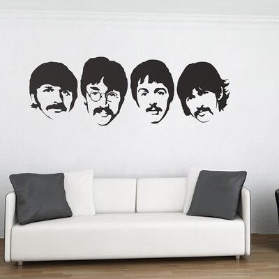 The Binary Box The Beatles Wall Stickers