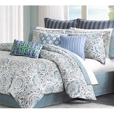 striped blue comforter