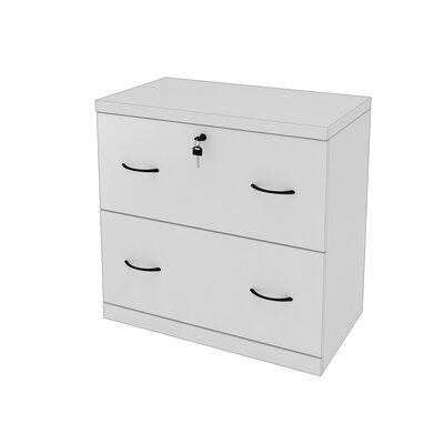 Otterbein 2 Drawer File Cabinet Finish: White