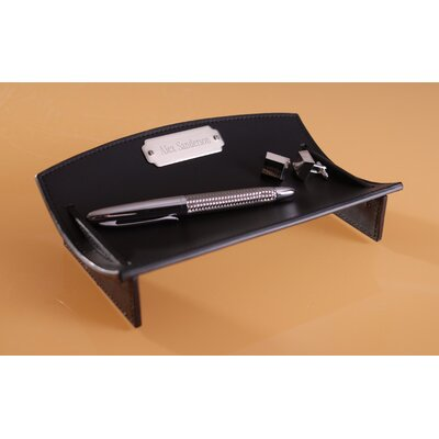 """Personalized Gift 1.5"""" H x 8.5"""" W Leather Desk Caddie"""