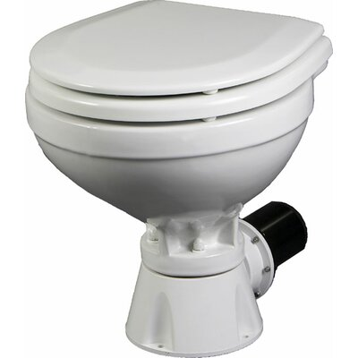 Aqua Jet Compact Silent Electric Marine Round One-Piece Toilet with Touchless Flush
