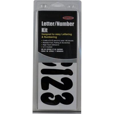 """3"""" Vinyl Address Plaque Frame Color: Black"""
