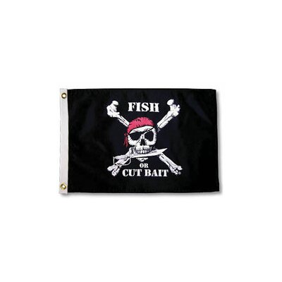 Taylor Made Products Pirate Heads 'Fish or Cut Bait' Traditional Flag