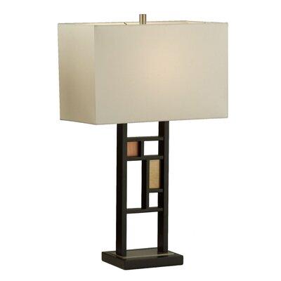 "Nova Colored Windows 28"" H Table Lamp with Rectangular Shade"