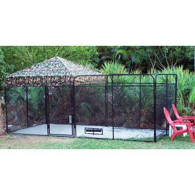 """Basic Expanded Metal Yard Kennel Size: 72"""" H x 96"""" W x 96"""" L, Color: Camouflage"""