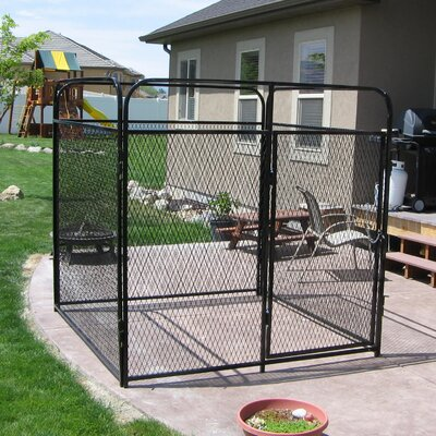 """Basic Expanded Metal Yard Kennel Size: 72"""" H x 72"""" W x 96"""" L"""