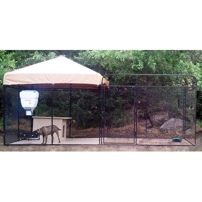"Alicia Welded Wire Steel Modular Yard Kennel Color: Beige, Size: 72"" H x 72"" W x 288"" L"