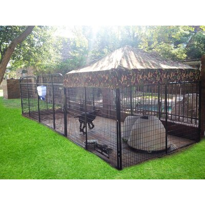 """Brendan Expanded Metal Yard Kennel Color: Camouflage, Size: 72"""" H x 96"""" W x 192"""" L"""