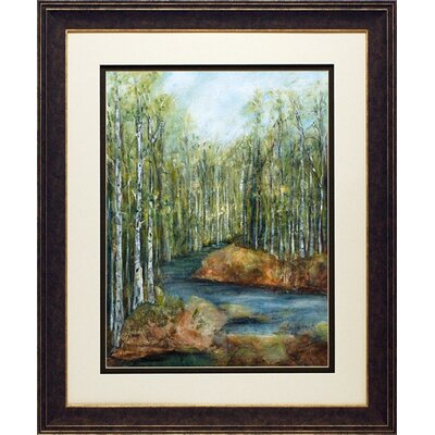 North American Art 'Adventure I' by Beverly Crawford Framed Painting Print