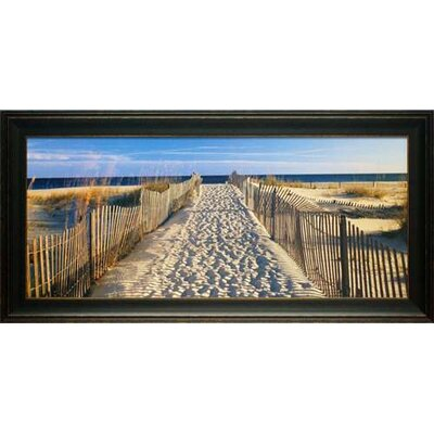 North American Art 'Pathway to the Beach' by Joseph Sohm Framed Photographic Print