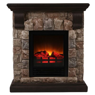 "Portable Electric Fireplace Size: 30"" H x 27.25"" W x 9.5"" D"