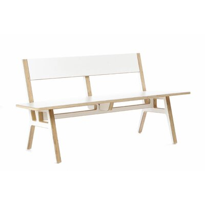 Truss Museum Birch Bench Color: White