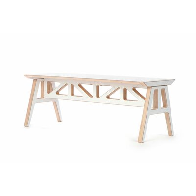 Truss A Frame Birch Bench Bench Color: Red