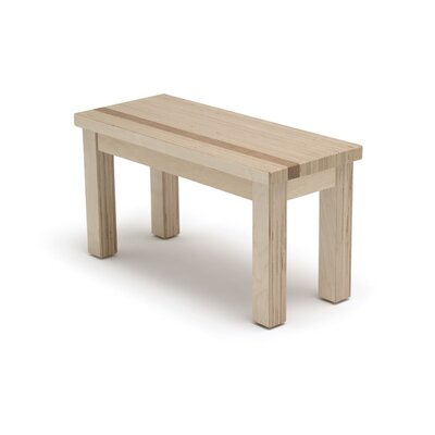 Narrative Structure Wooden Bench Color: Maple