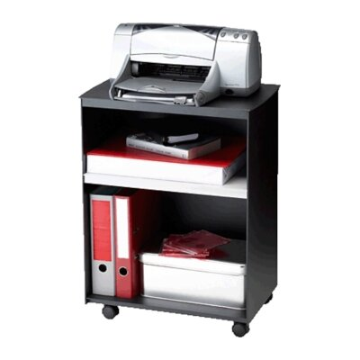 Easy Office Mobile Printer Stand with Shelves