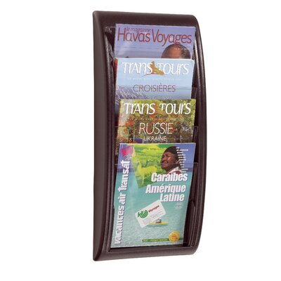 Easy Office Quick Fit Wall Mounted Magazine Rack