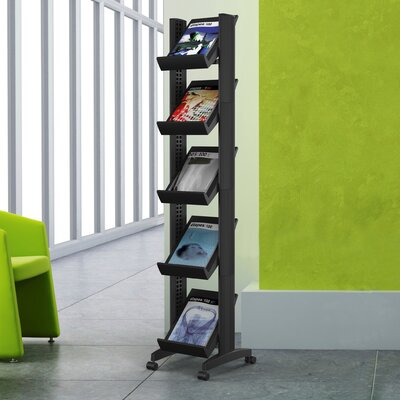 Easy Office Easy Displays Free Standing Magazine Rack