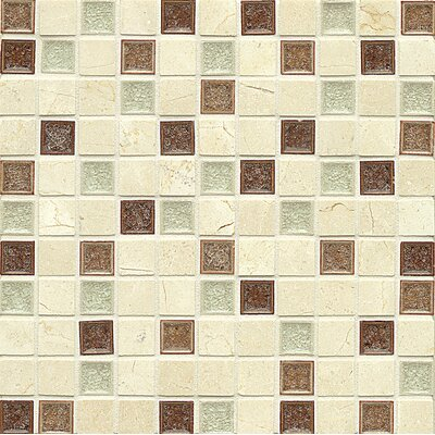 "Kismet 1"" x 1"" Glass Mosaic Tile in Paradise"