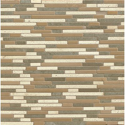 Random Sized Limestone Mosaic Tile in Honed Blend