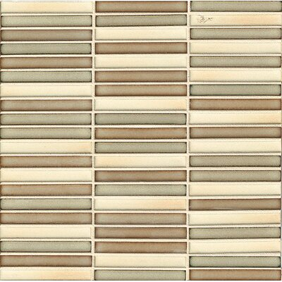 "Shizen 0.5"" x 4"" Porcelain Mosaic Tile in Canyon Blend"