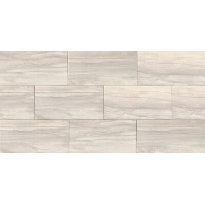 "Athena 12"" x 24"" Porcelain Wood Look/Field Tile in Pearl"