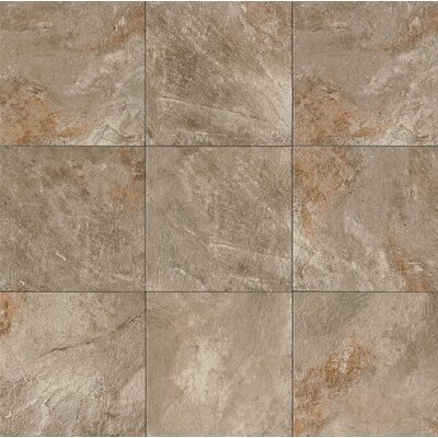 "Rok 13"" x 13"" Porcelain Field Tile in Antracite"