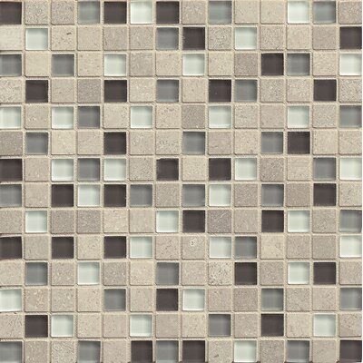 "Interlude 0.75"" x 0.75"" Stone and Glass MosaicTile in Prelude"