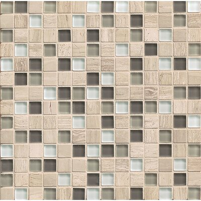 "Interlude 0.75"" x 0.75"" Stone and Glass Mosaic Tile in Stacatto"