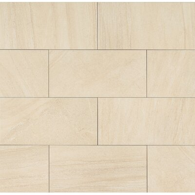 "Purestone 12"" x 24"" Porcelain Wood Look/Field Tile in Beige"