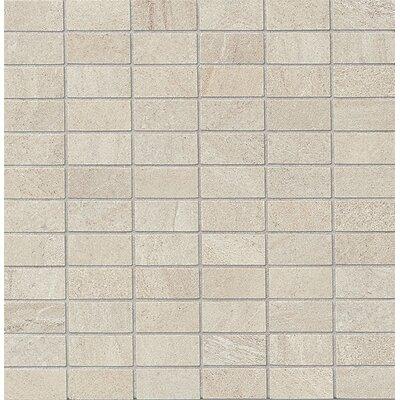 """Purestone 1"""" x 2"""" Porcelain Mosaic Tile in Grigio"""