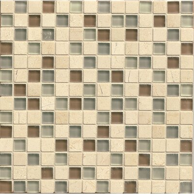 "Interlude 0.75"" x 0.75"" Stone and Glass Mosaic Tile in Musette"