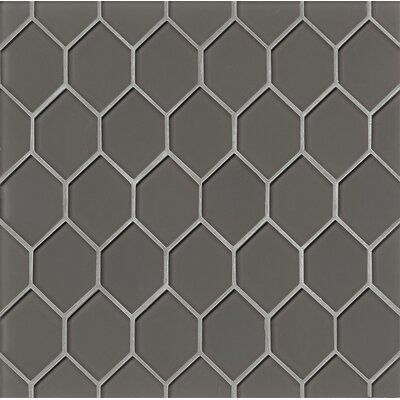 La Palma Glass Mosaic Tile in Taupe