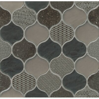 DuJour Glass and Stone Mosaic Tile in Charcoal
