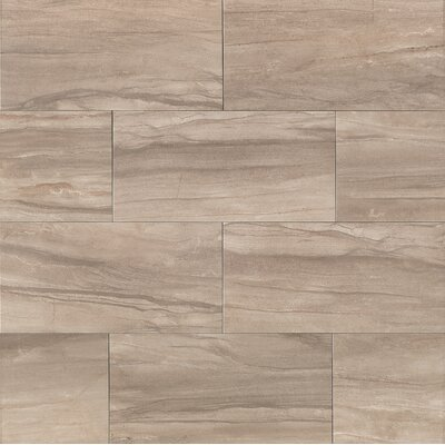"Athena 12"" x 24"" Porcelain Field Tile in Ash"