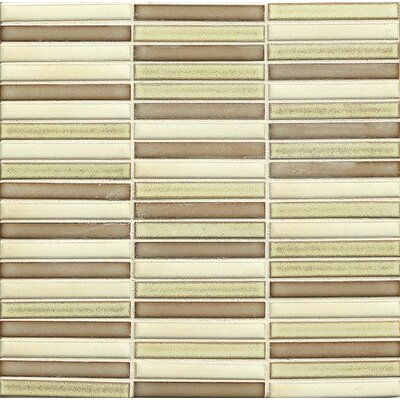 "Shizen 0.5"" x 4"" Porcelain Mosaic Tile in Desert Blend"