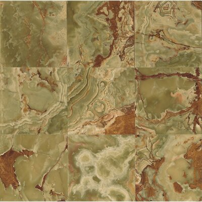 "Onyx 12"" x 12"" Marble Field Tile in Palisades Green"
