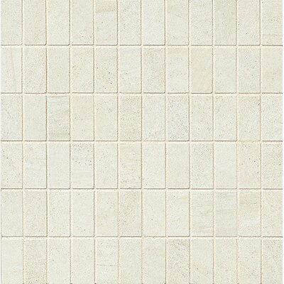 "Purestone 1"" x 2"" Porcelain Mosaic Tile in Bianco"