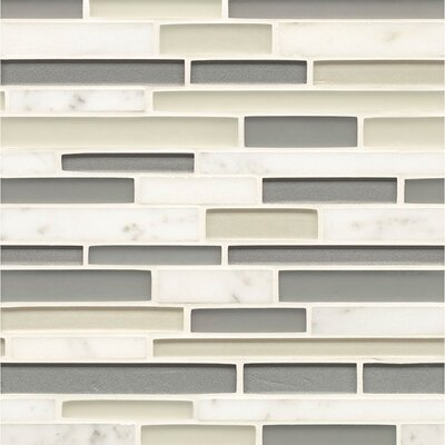 Remy Glass Random Sized Glass Mosaic Tile in Bainbridge