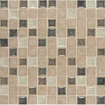 "Kisment 1"" x 1"" Glass Mosaic Tile in Bliss"
