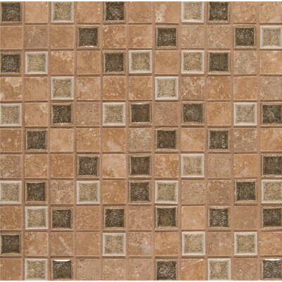"Kisment 1"" x 1"" Glass Mosaic Tile in Euphoria"