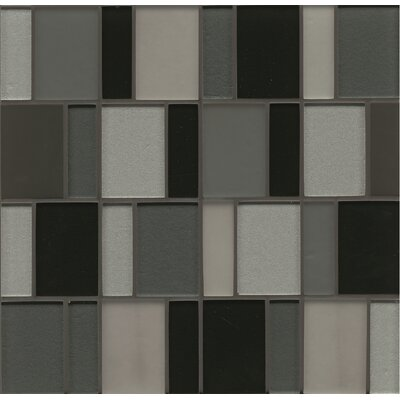 "Remy Glass 12"" x 12"" Mosaic Brick Blends Tile in Evanston"
